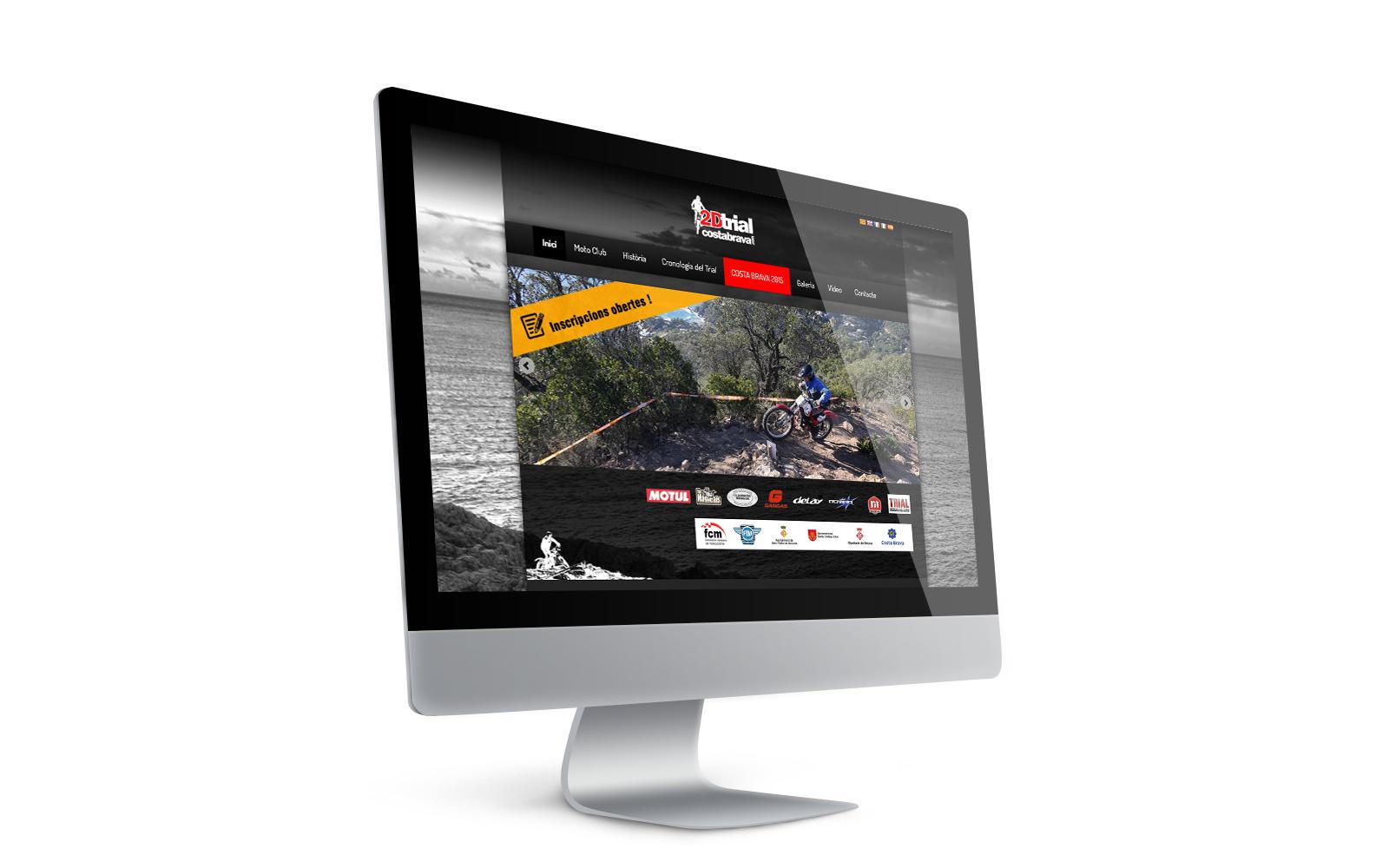 Disseny web per a clubs esportius i inscripcions on-line. anbimedia.com